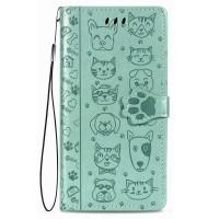 Maciņš Cat-Dog Samsung A525 A52/A526 A52 5G green