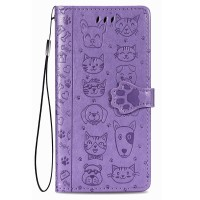 Maciņš Cat-Dog Samsung A325 A32 4G purple
