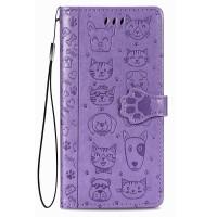 Maciņš Cat-Dog Samsung A025G A02s purple