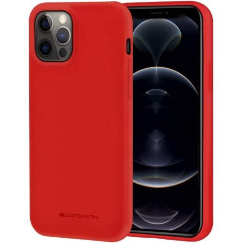 Maciņš Mercury Soft Jelly Maciņš Apple iPhone 12/12 Pro red