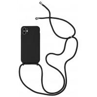 Maciņš Strap Silicone Maciņš Apple iPhone 12 mini black