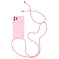 Maciņš Strap Silicone Maciņš Apple iPhone 12/12 Pro pink