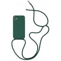 Maciņš Strap Silicone Maciņš Apple iPhone 12 Pro Max dark green