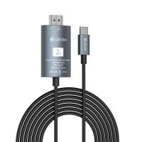 Adapteris Devia Storm Type-C-HDMI black