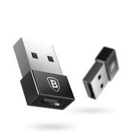 Adapteris Baseus Exquisite from USB to Type-C black CATJQ-A01