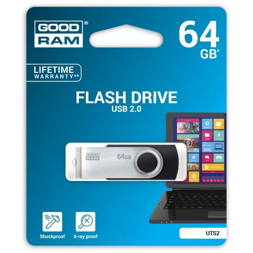 USB Flash atmiņa Goodram UTS2 64GB USB 2.0