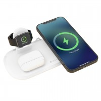 Wireless charging Devia 3in1 Smart Phone, Apple Watch, Airpods white
